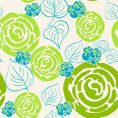 Flowers seamless pattern — Vecteur