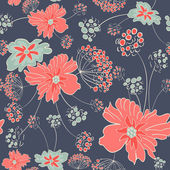 Flower pattern background — Vecteur