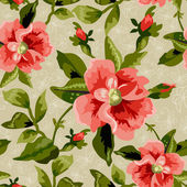 Seamless flowers pattern — Vecteur