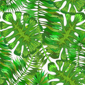 Tropical leaves — Vecteur