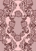 Pattern with lace — Stock Vector