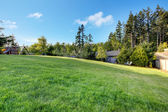 Grande quintal com cerca e play ground. — Foto Stock
