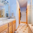 Blue large bathroom with tub and shower. — Stock Photo #13751848