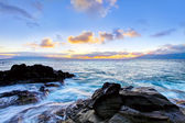 Island Maui cliff coast line with ocean. Hawaii. — Stock Photo
