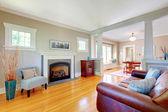 Hermosa sala natural suave interiorismo. — Foto de Stock