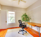 Home office room interior with desk. — Stock Photo