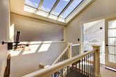 Staircase with skylight and baby room. — Stock Photo