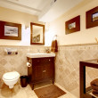 Stock Photo: Home bathroom classic elegant interior.