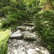 Japanese Garden in Seattle, WA. Stone trail in the woods. — Stock Photo