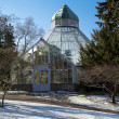 Stock Photo: Botanical Conservatory at Wright Park, Tacoma. Downtown. Winter.