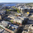 Seattle downtown, South Lake Union areal view. — Stock Photo