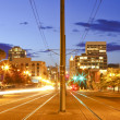 Tacoma downtown at night main street - Pacific Ave. — Stock Photo