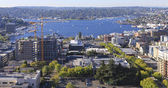 Seattle downtown, South Lake Union areal view from Virginia. — Stock Photo