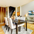 DIning room interior in modern city apartment. — Stock Photo #20099387