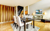 DIning room interior in modern city apartment. — Stockfoto