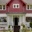 Постер, плакат: Classic large craftsman old American house exterior