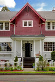 Classic large craftsman old American house exterior. — Stock Photo