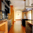 Stock Photo: New construction luxury home interior. Kitchen with beautiful details.