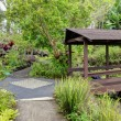 KulBotanical Garden. Maui. Hawaii. Covered bridge. Tropical landscape. — Stock Photo #22281215