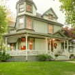Beautiful historical American house exterior. Northwest. - Stock Photo