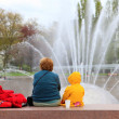 SEATTLE CENTER INTERNATIONAL FOUNTAIN — Stock Photo