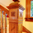 Antique Wood carved staircase railing details. — Stock Photo #22343819