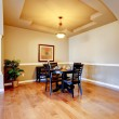 New home dining room interior. — Stock Photo
