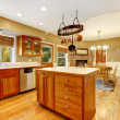 Country farm large kitchen interior. — Stock Photo #31876161