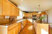 Comfortable big kitchen room — Stock Photo