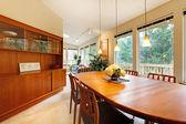 Simple cute dining room design — Stock Photo