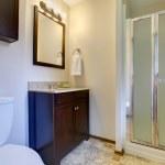 Elegant dark brown tones bathroom — Stock Photo