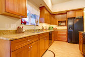 Furnished bright kitchen room — Stock Photo