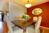 Small elegant dining corner area — Stock Photo