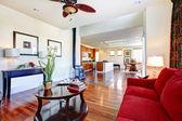Elegant living room design. Kitchen room — Stock Photo