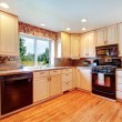 Simple warm colors kitchen room — Stock Photo #39483279