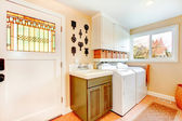 Old-fashined bright laundry room — Stock Photo