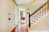 Soft colors hallway with stairs — Stockfoto