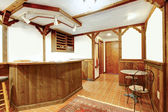 Rustieke houten bar kamer — Stockfoto
