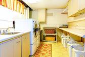 Big old style laundry room — Stock Photo