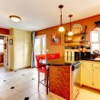 Warm colors cozy kitchen room — Stock Photo