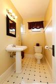 Decorated elegant bright bathroom — Stock Photo