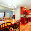 Great idea for an open plan of kitchen, dining and living room — Zdjęcie stockowe