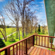 Farmhouse balcony view. Early spring — Stock Photo