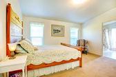 Charming farmhouse marster bedroom — Stock Photo