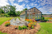 Farm green house — Stock Photo