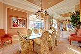 Luxuriant bright dining room — Stock Photo