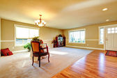 Open plan design. Entrance hallway and living room — Foto de Stock
