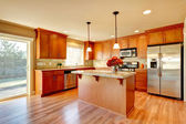 Kitchen room design — Stock Photo