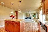 Open plan design kitchen and living room — Foto de Stock