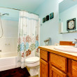 Light blue bathroom — Stock Photo